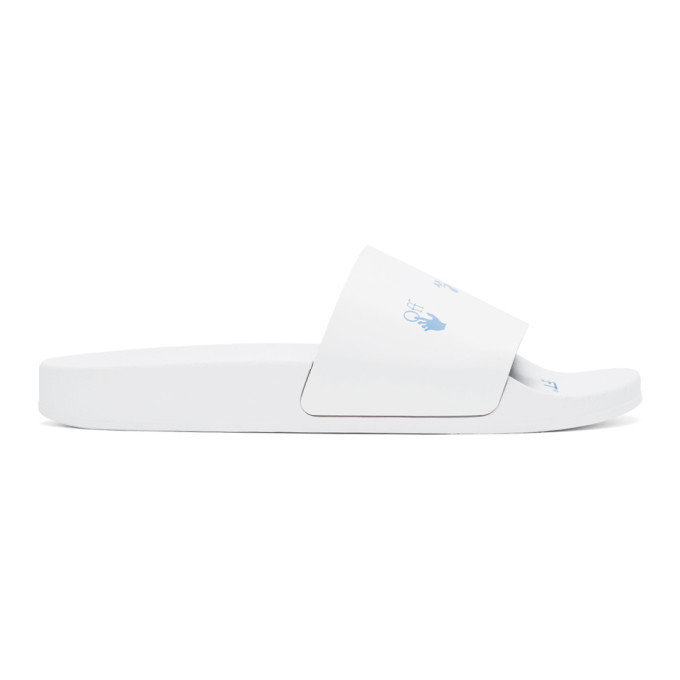 Photo: Off-White White and Blue New Logo Slides
