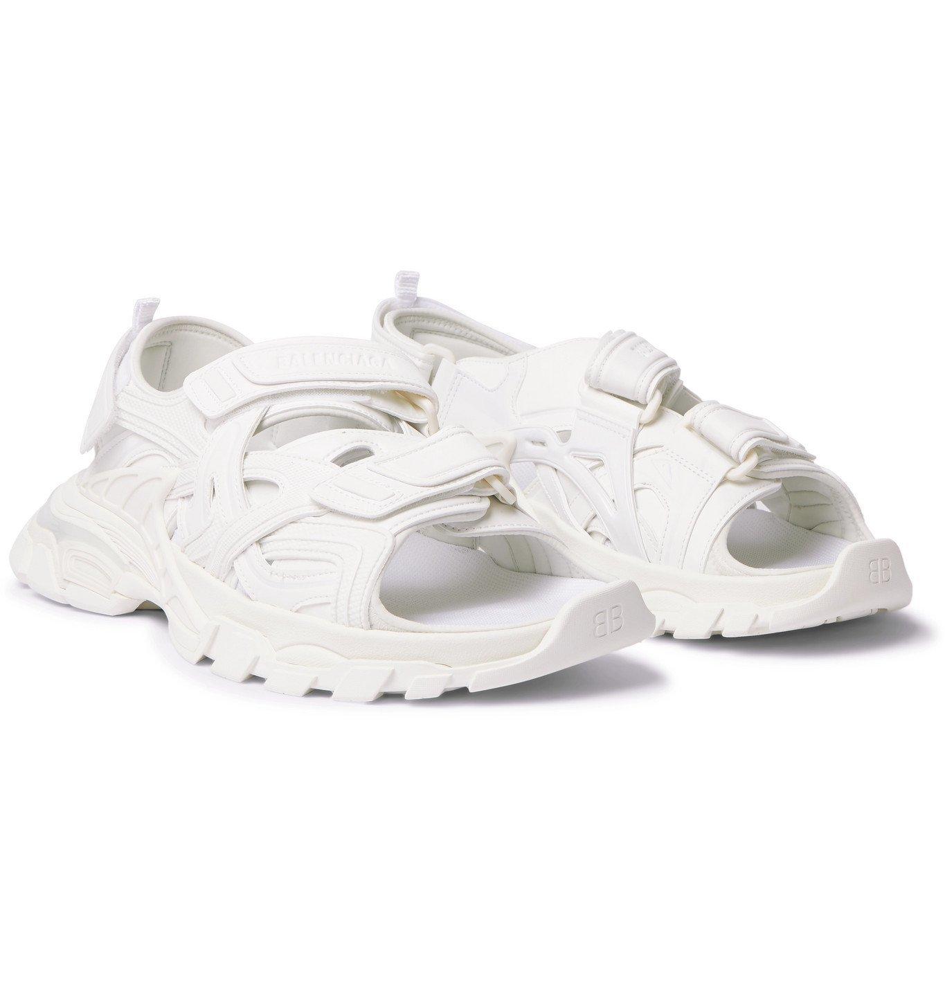 Photo: Balenciaga - Track Neoprene and Rubber Sandals - White