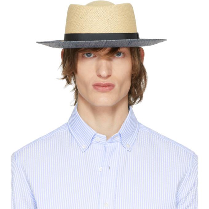Photo: Giorgio Armani Beige Straw Boater Hat