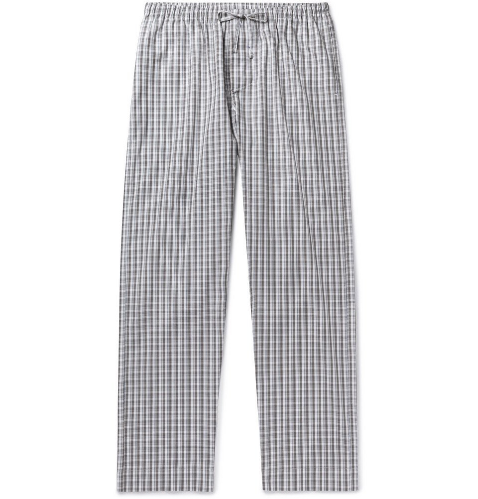Photo: Zimmerli - Checked Cotton Pyjama Trousers - Gray