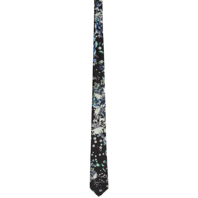 Photo: Givenchy Black Silk Floral Tie