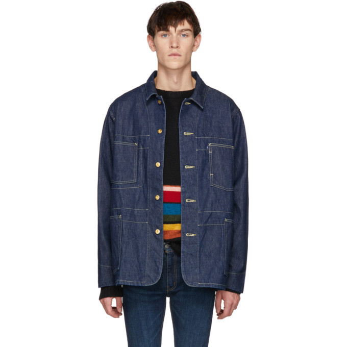 Photo: Levis Made and Crafted Navy Poggy Sack Coat