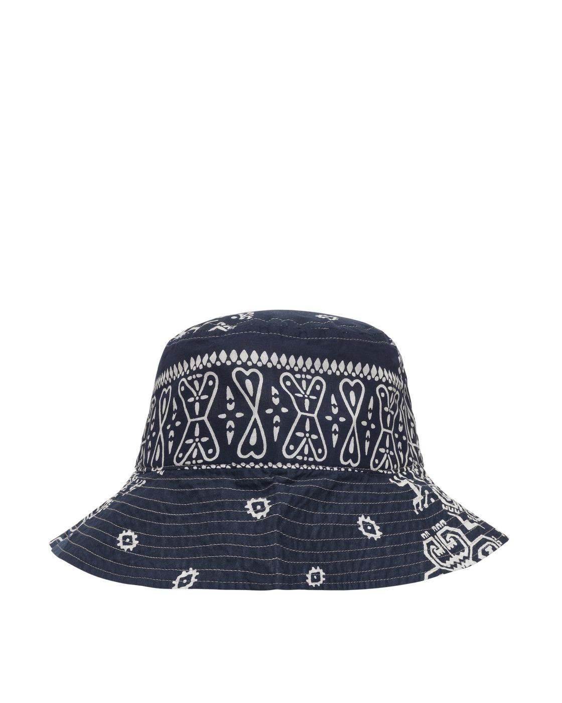 Kapital Bandana Patchwork Bucket Hat Purplenavy