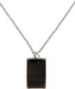 Hugo Black Enamel Necklace