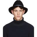 Giorgio Armani Black Felt Hat