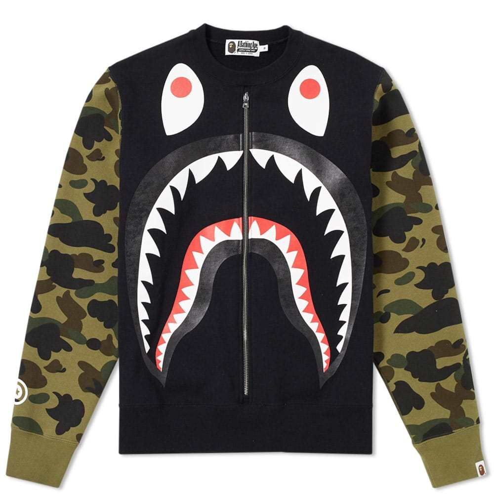 Photo: A Bathing Ape Big Shark Wide Crew Sweat