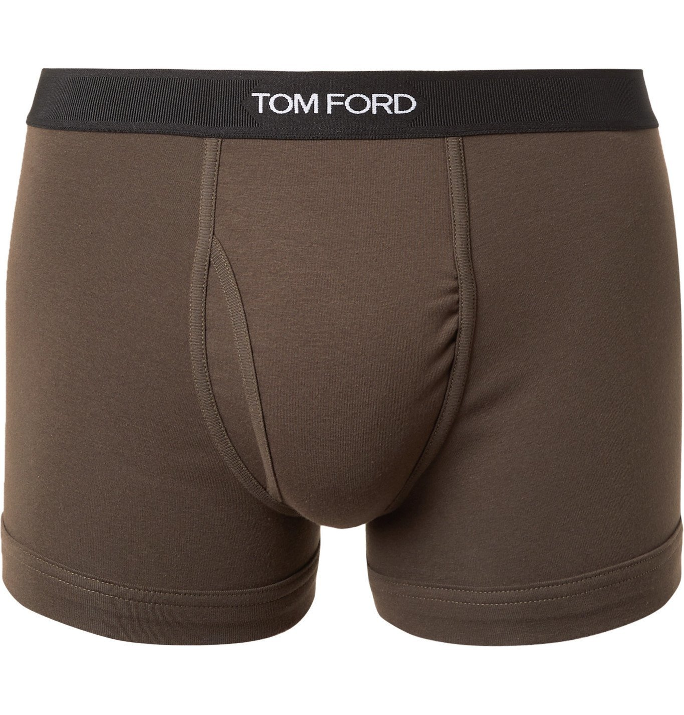 Photo: TOM FORD - Stretch-Cotton Jersey Boxer Briefs - Green