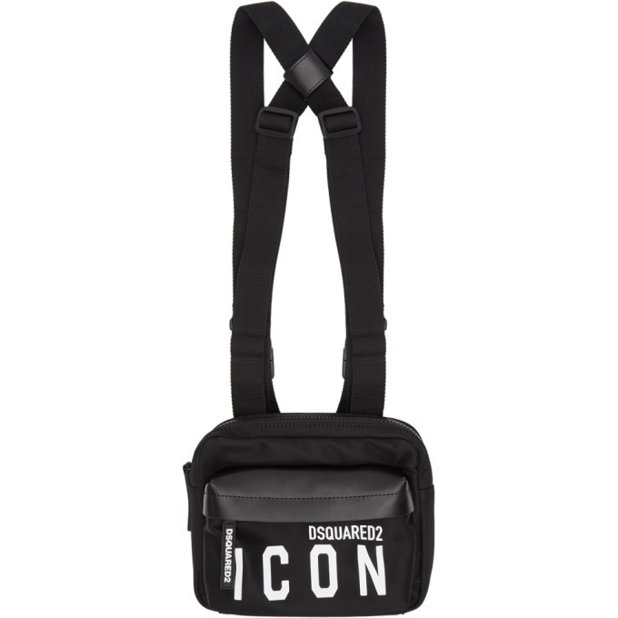 Photo: Dsquared2 Black Mr. Icon Belt Bag