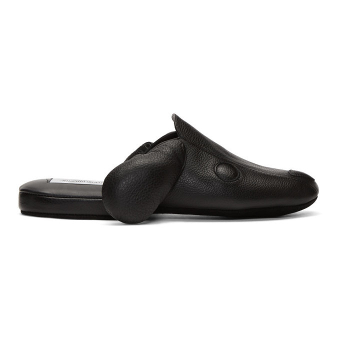 Photo: Thom Browne Black Hector Slippers