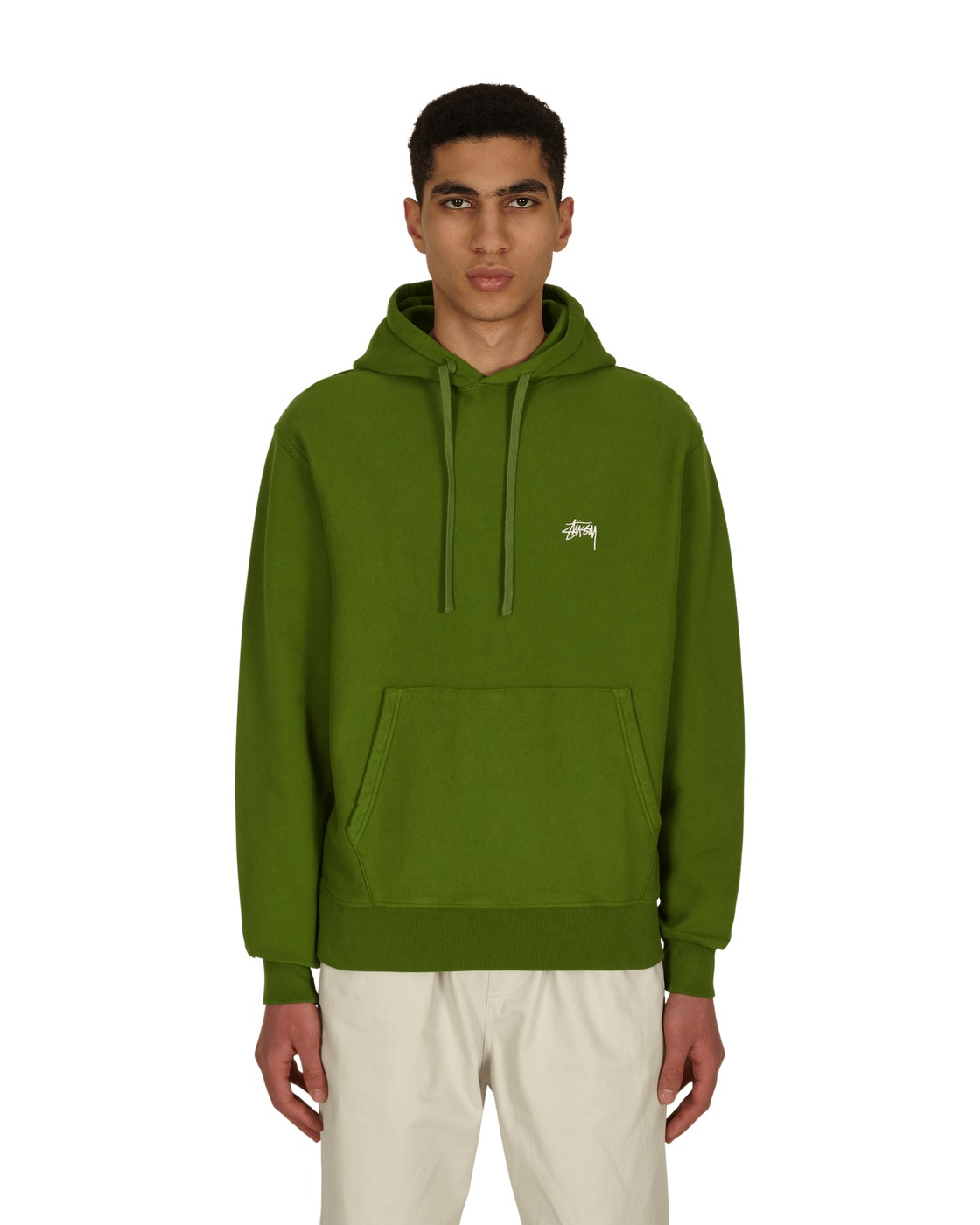 Photo: Stussy Stock Logo Hooded Sweatshirt Green