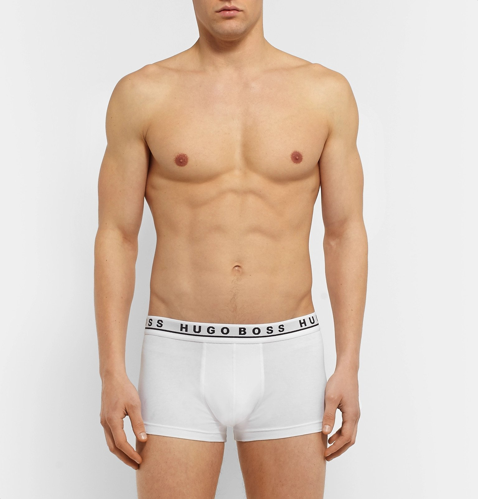 Hugo Boss - Three-Pack Stretch-Cotton Boxer Briefs - White