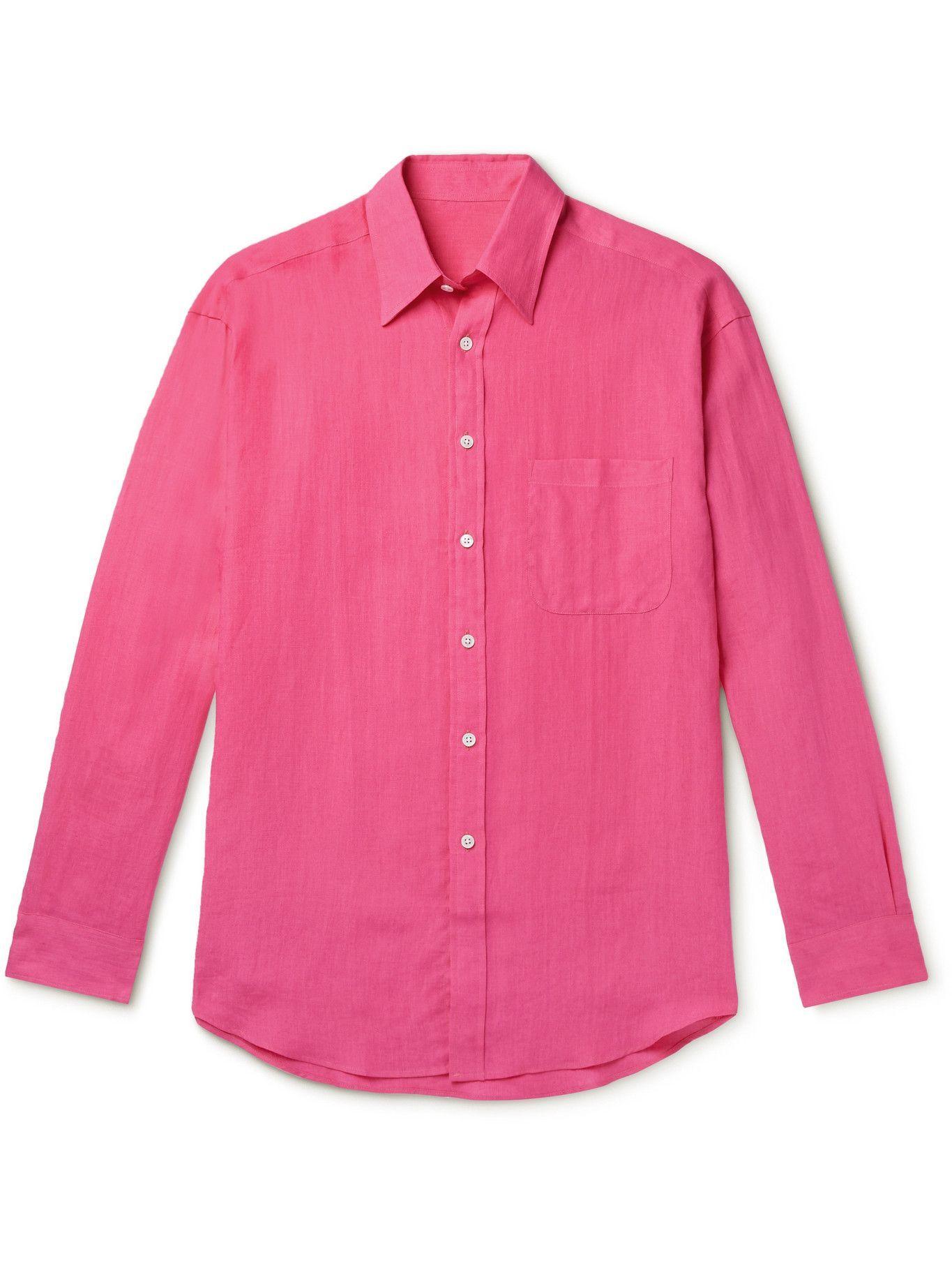 Photo: ANDERSON & SHEPPARD - Linen Shirt - Pink