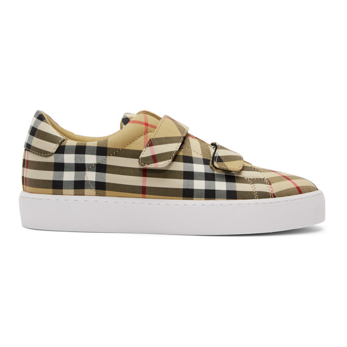 Photo: Burberry Beige Alexandra Check Sneakers
