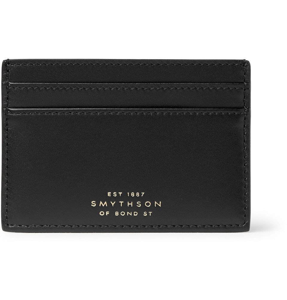 Smythson - Leather Cardholder - Black