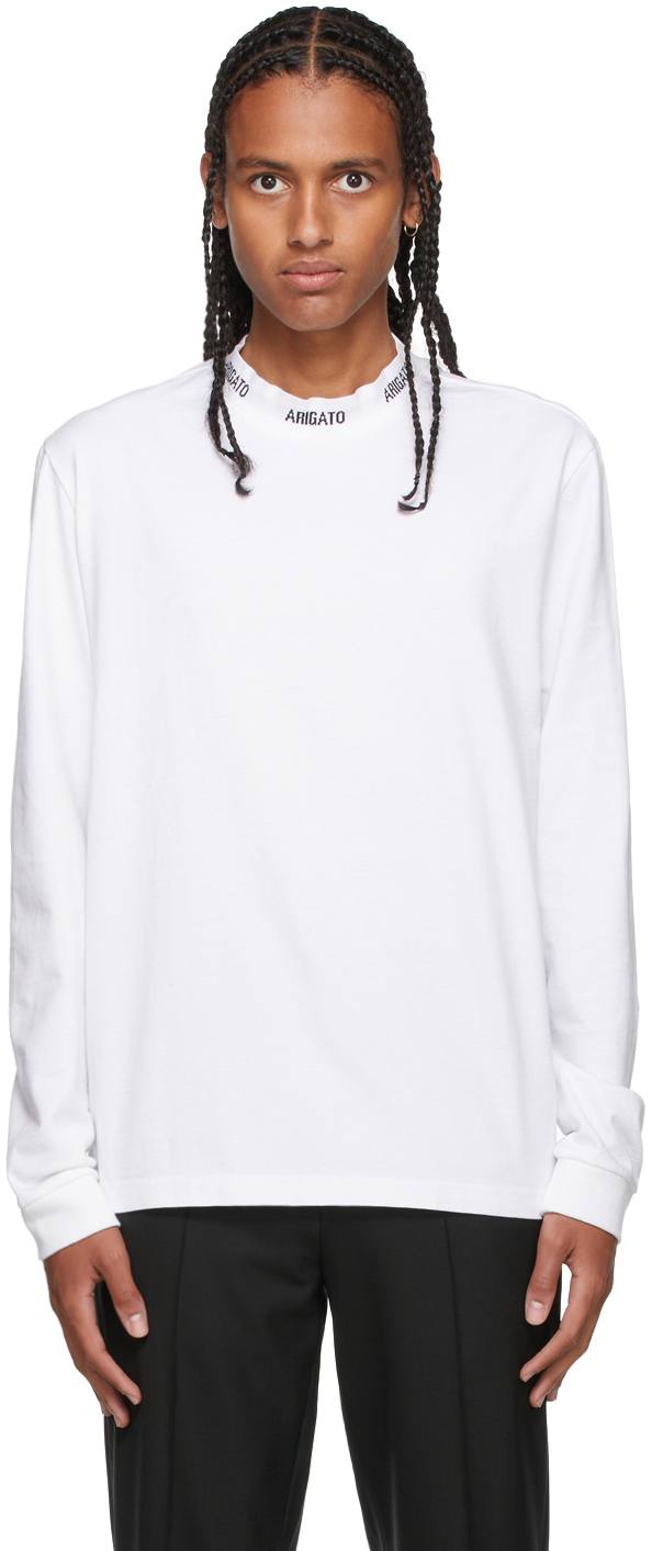 Photo: Axel Arigato White Feature Long Sleeve T-Shirt