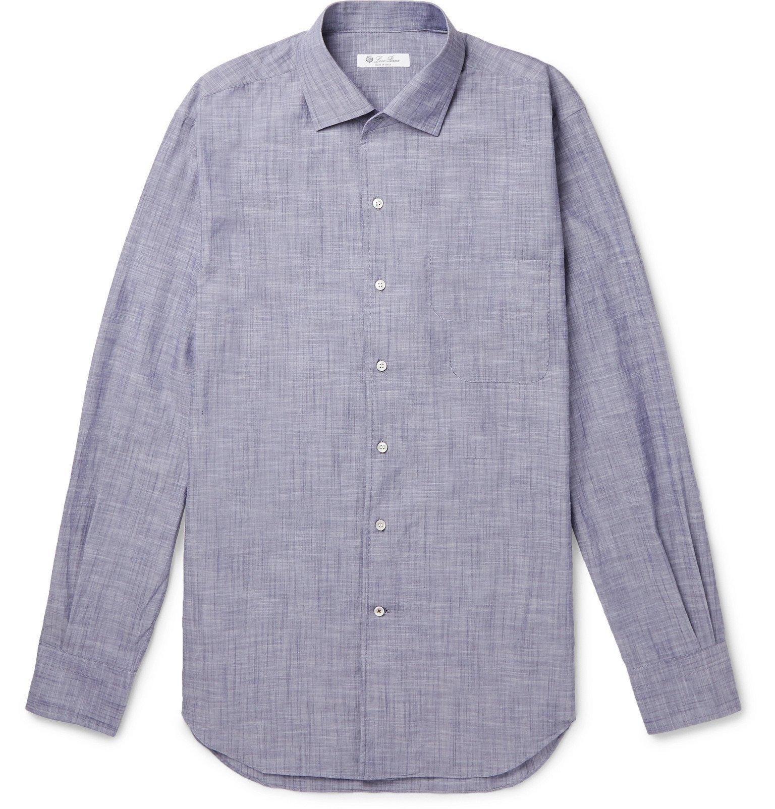 Photo: Loro Piana - Cotton Shirt - Blue