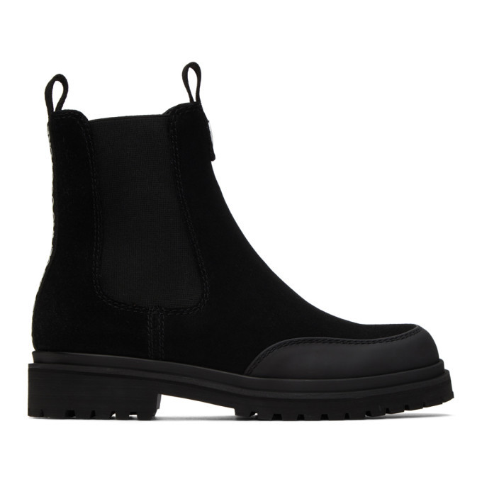 Photo: Versace Jeans Couture Black Tank Formal Chelsea Boots