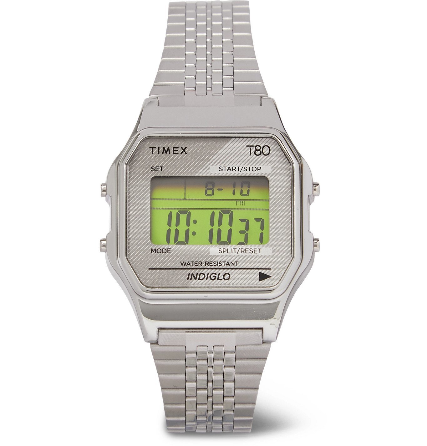 Photo: Timex - T80 34mm Stainless Steel Digital Watch - Silver