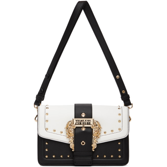 Photo: Versace Jeans Couture Black and White Couture 1 Buckle Bag