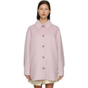 Acne Studios Pink Wool Shirt Jacket