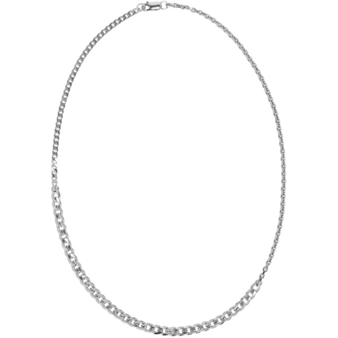 Photo: Bottega Veneta Silver Alternate Chain Necklace