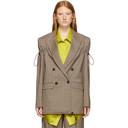 Nina Ricci Beige Arm Tie Blazer