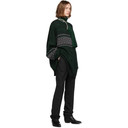 Raf Simons Black and Green Multi Collar Turtleneck
