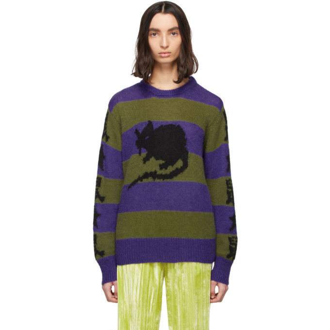 Photo: Marc Jacobs Purple and Green Stray Rats Edition Mohair Sweater