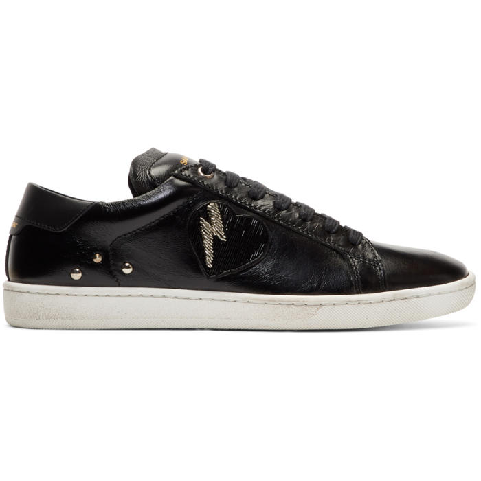 Photo: Saint Laurent Black Flame and Matches Sneakers