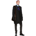 Raf Simons Black Slim Fit Double-Breasted Coat