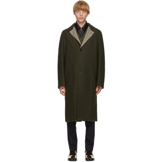 Photo: Maison Margiela Reversible Green Wool Coat