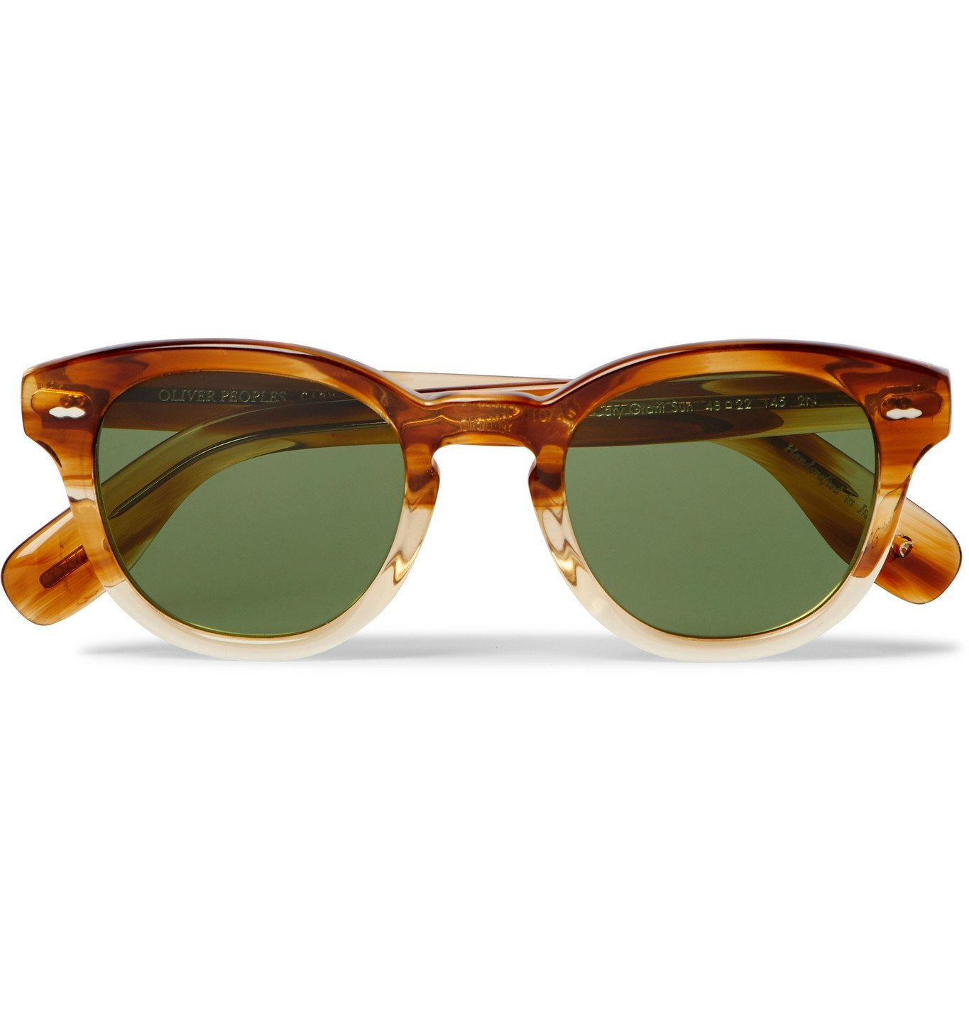 Photo: OLIVER PEOPLES - Cary Grant Sun Round-Frame Acetate Sunglasses - Brown