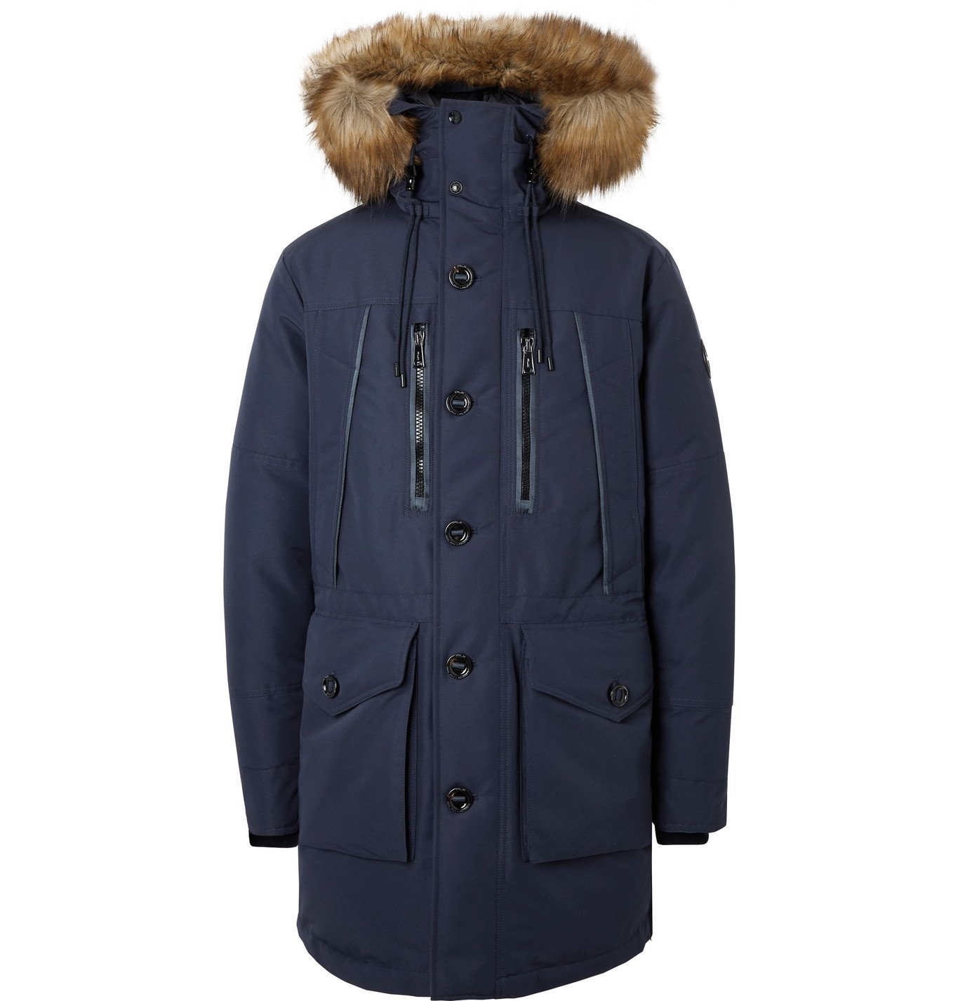 Photo: POLO RALPH LAUREN - RLX Alistair Faux Fur-Trimmed Padded Shell Hooded Parka - Blue