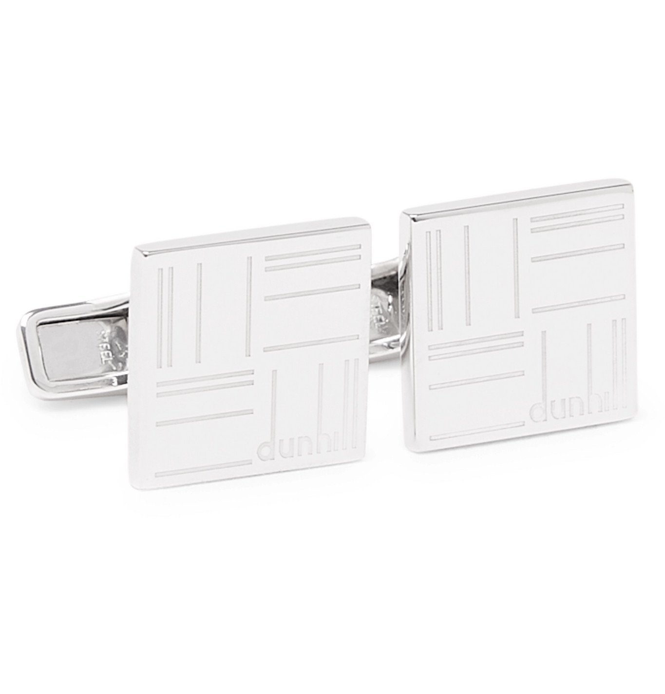 Dunhill - Logo-Engraved Sterling Silver Cufflinks - Silver