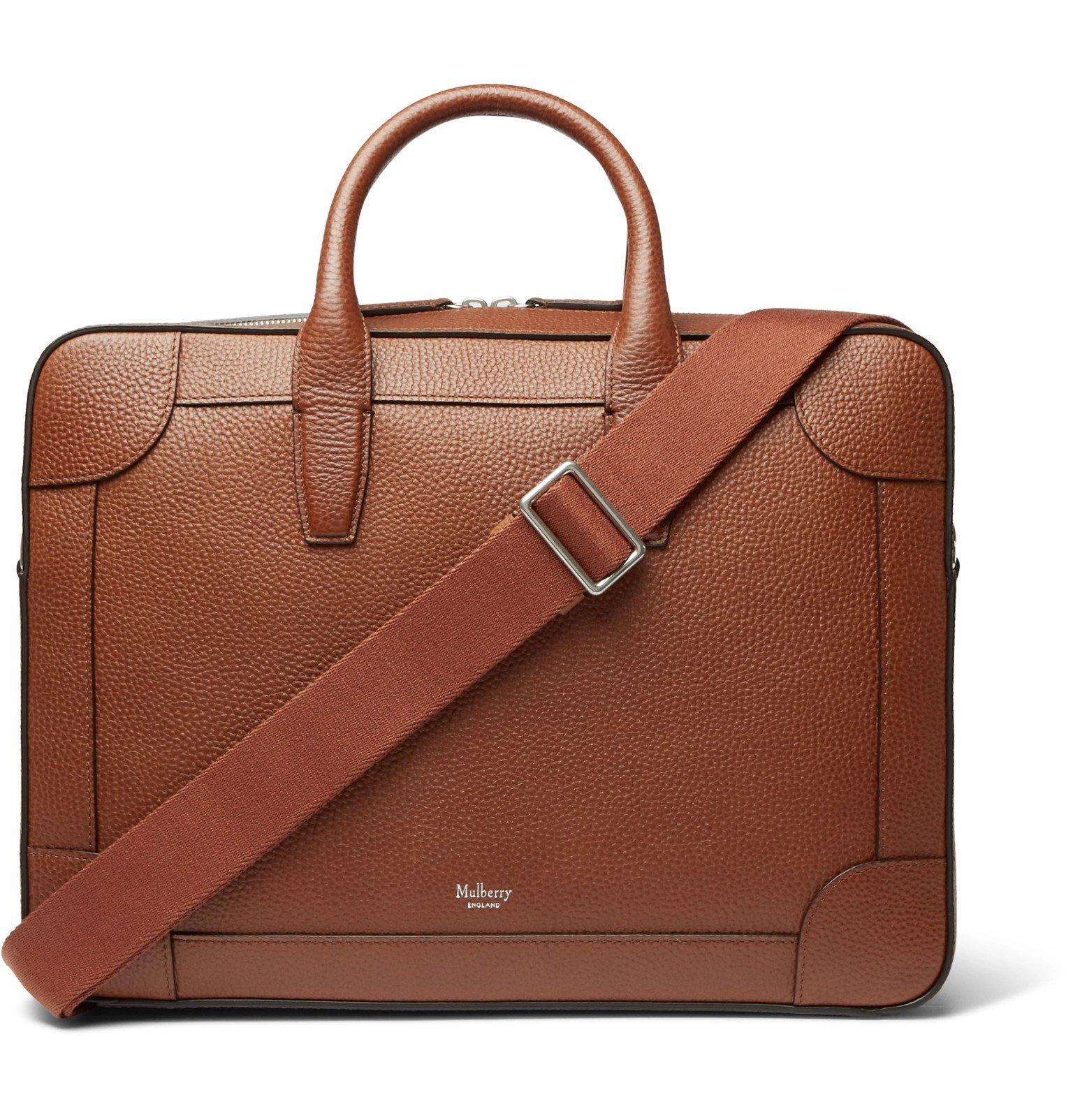 Photo: Mulberry - Belgrave Full-Grain Leather Briefcase - Brown