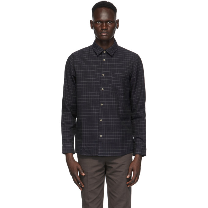 Photo: A.P.C. Navy Check Vico Shirt