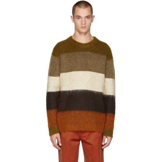 Acne Studios Orange and Brown Mohair Albah Sweater