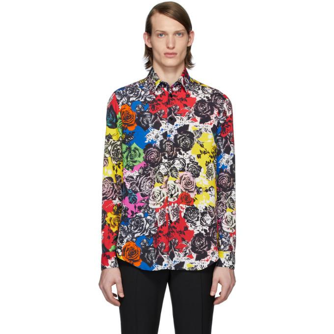 Photo: Versace Multicolor Flower Shirt