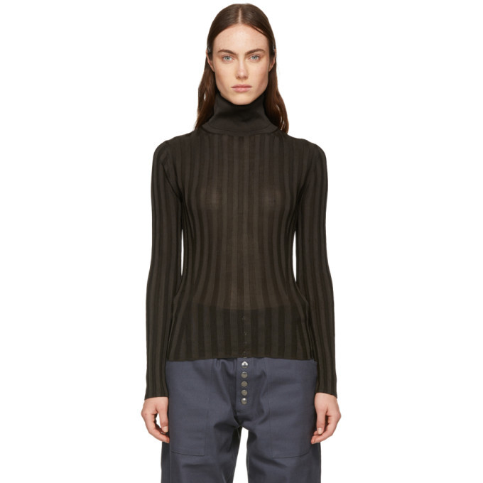 Acne Studios Brown Fitted Turtleneck