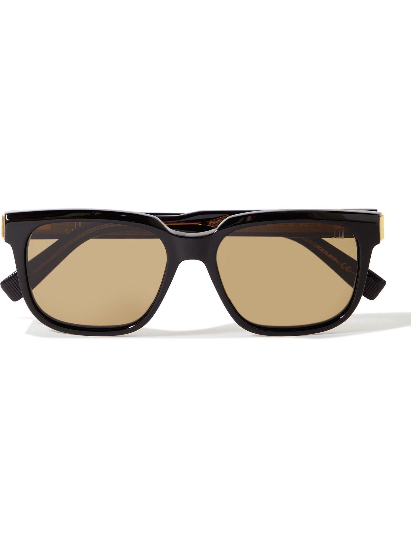 DUNHILL - Square-Frame Acetate and Gold-Tone Sunglasses