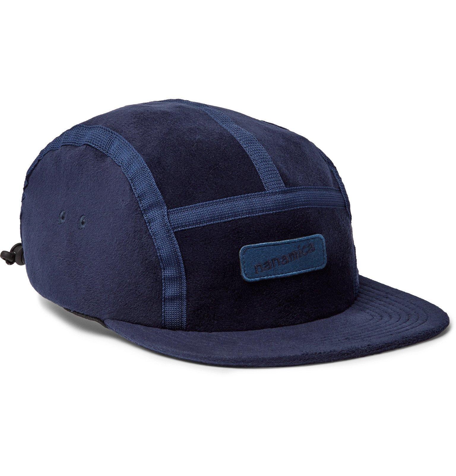 Photo: nanamica - Logo-Appliquéd Fleece Baseball Cap - Blue