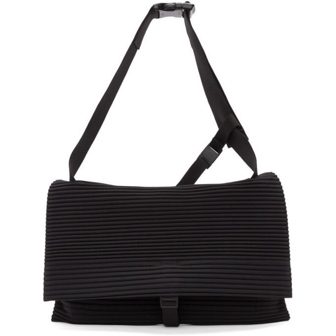 Photo: Homme Plisse Issey Miyake Black Pleated Flat Bag