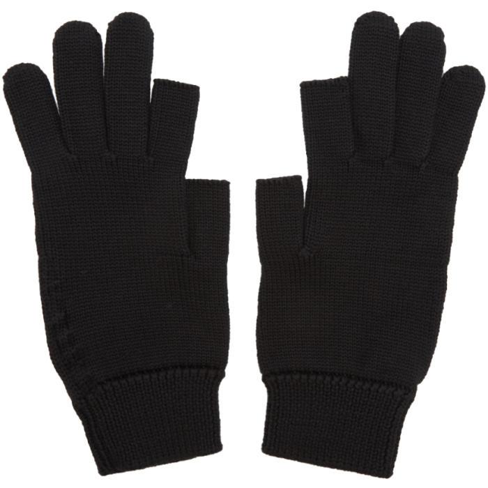 Photo: Rick Owens Black Knit Gloves