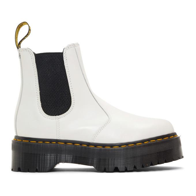 Photo: Dr. Martens White 2976 Quad Chelsea Boots