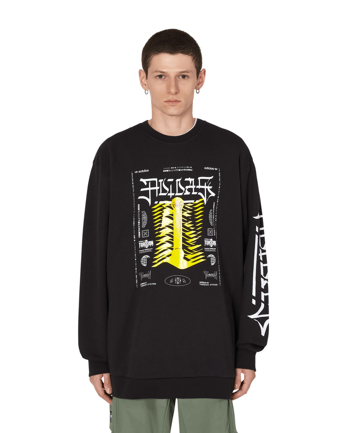 Adidas Originals Torsion Crewneck Sweatshirt Black