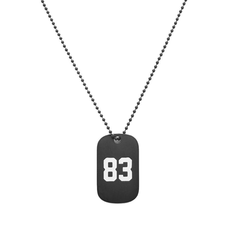 Photo: Uniform Experiment Navy Dog Tag Necklace