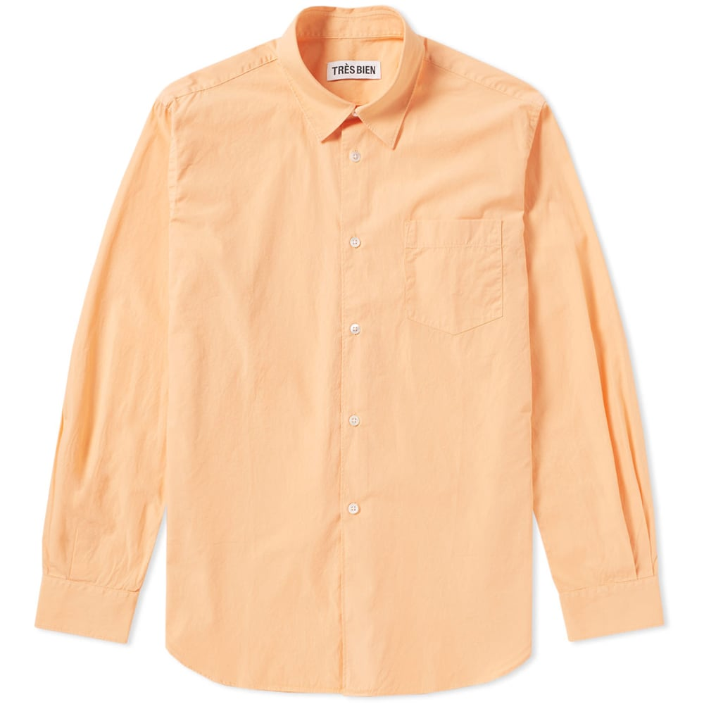 Photo: Très Bien Classic Poplin Shirt Orange