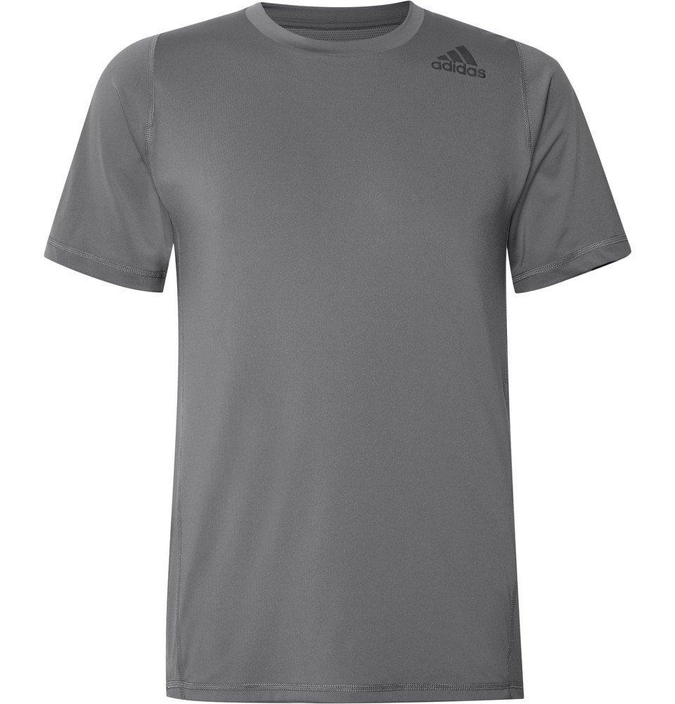 Photo: Adidas Sport - Techfit Climalite T-Shirt - Gray