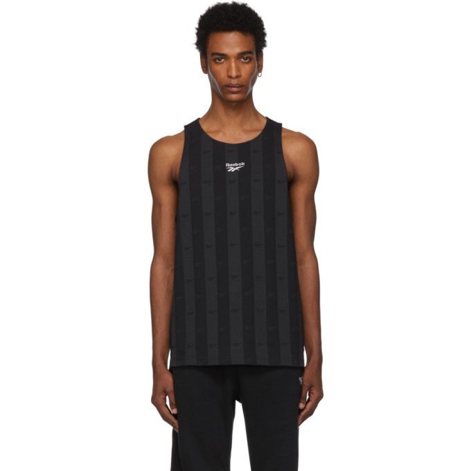 Photo: Reebok Classics Black V Logo Tank Top