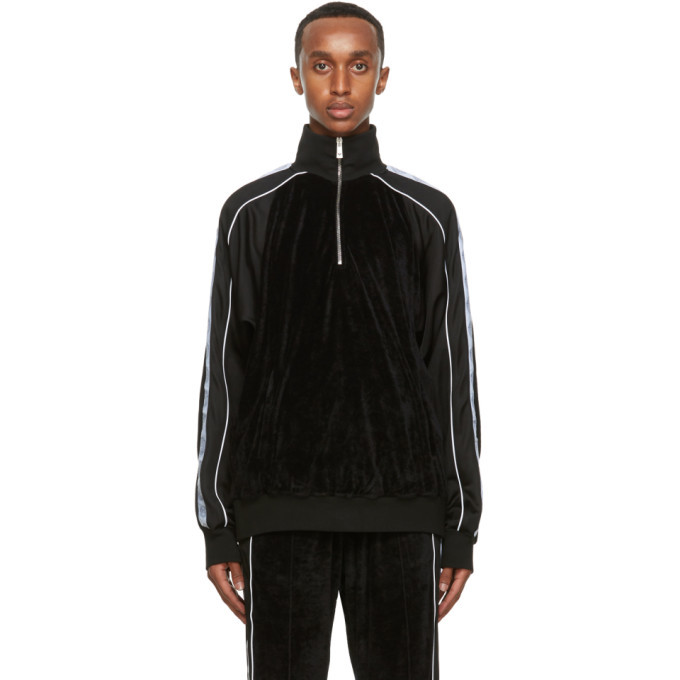 Photo: Versace Black Medusa Half-Zip Track Jacket